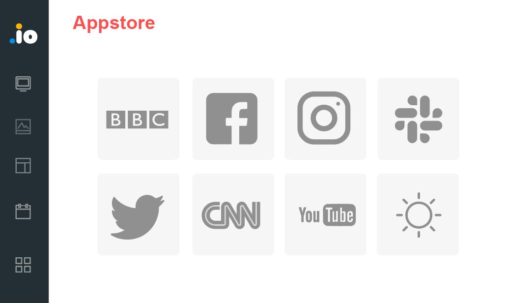 Installez facilement des applications utiles à votre écran.